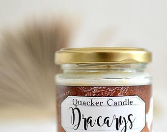 Dracarys -soy candle inspired by book, soy candle, bookish candles, literary candle, got, book lover, book candles, game of thrones