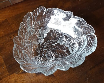 1920's LOGANBERRY CLEAR #606 Bon Bon Bowl by Indiana Glass