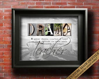 Drama Teacher Gift For Drama Teacher Gifts Teacher Quotes, Personalized Drama Teacher Gift, Term End Drama Teacher, Drama Gifts PRINTABLE