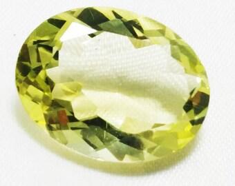 10% SALE Natural Lemon Quartz 13x17 mm Oval Shape Oval cut AAA Quality Lemon Quartz gemstone CODE# ahIq17
