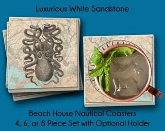 Beach House, Nautical Coasters, Beach Coasters, Beach House Coasters, Coasters Nautical, Nautical House, Coasters Beach, House Coasters