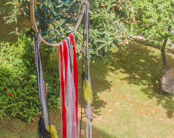 Big Dream Catcher with feathers and beads