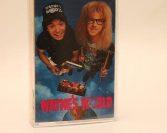 Wayne's World Original Soundtrack Cassette Tape 1990s SNL Saturday Night Live Mike Myers Dana Carvey Rob Lowe Tia Carrere