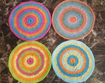 Crochet Dishclothes-Circle Crochet Dishclothes-Handmade Dish Clothes-Handmade crochet dishcloths