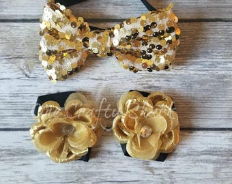 Baby Barefoot Sandals, Toddler Sandal, Newborn Sandal, Newborn Shoes, Baby Sandals, Baby Girl Barefoot Shoes, Gold and Black Baby Sandal