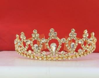 Evil Queen Disney descendants tiara Crown, Descendants Tiara,Evie costume,Descendants Headpiece ,Evie Gold Tiara ,Evie Gold Crown