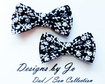 Bow Tie,Skeleton Bow Tie,Dad and Son Bow Tie,Black Tie,Father Son Bow Tie,Mens Bow Tie,Groomsmen Bow Tie,Skeleton Bowtie,Boys Bow Tie  DS690