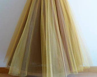 Christian Dior Boutique multilayered long skirt in five layers of tulle netting