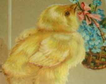 Vintage Forigen Easter Postcard (Chick)