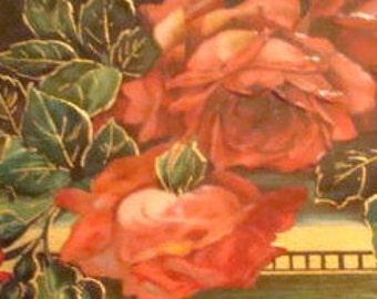 Nice Vintage Floral Postcard (Red Roses)