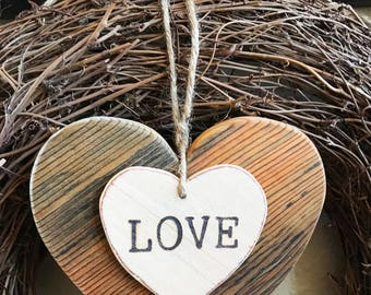 Rustic heart, Valentine heart, Small wood heart, Valentine gift, Valentine decor, Wedding decor, Love