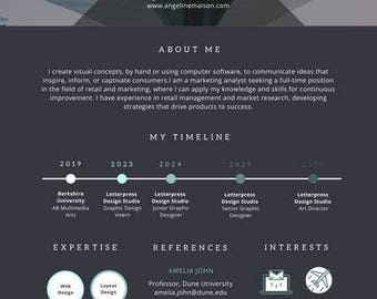 Engineering Manager Resume Excel Infographic Resume  Etsy Interesting Resume Templates Pdf with English Teacher Resume Pdf Dark Infographic And Timeline Photo Resume  Pdf Format Profile Section Of Resume Word