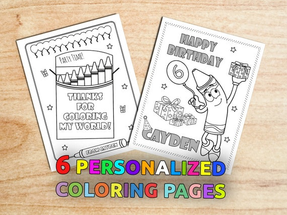 Aladdin Coloring Pages Pdf : Crayon birthday coloring pages colorful birthday party