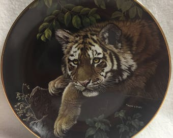 Hamilton Collection Collector Plate - Young Lords of the Wild - 'Siberian Tiger Cub' (#151)