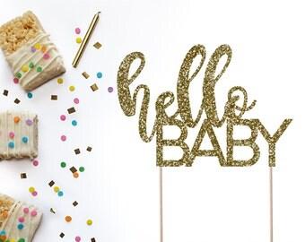 Hello Baby Cake Topper, Baby Shower Cake Topper, Baby Cake Topper, Welcome Baby Cake Topper, Baby Shower Decor
