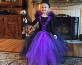 Maleficent Tutu Dress with Horns.