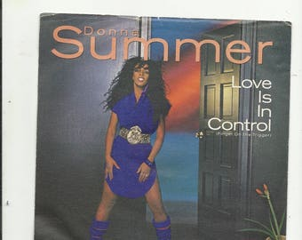 "7"" donna summer  love is in control"