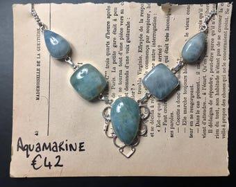 Aquamarine Statement Necklace.