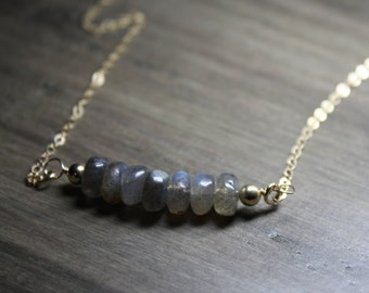 labradorite necklace, labradorite bar necklace, labradorite jewelry, gold labradorite necklace, silver labradorite necklace, labradorite
