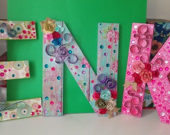 Decorative Mod Podge Letters (Cardboard and Wooden)