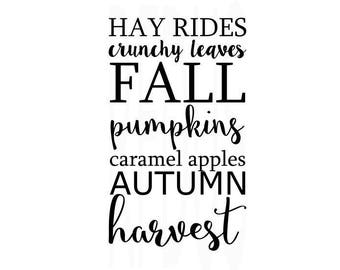 hay ride crunchy leaves fall pimlins caramel apples autumn harvest svg , Cricut, Cut files svg, fall svg file, thanksgiving svg, fall y'all