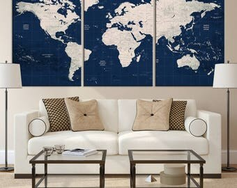 World map canvaslated new 3 pcsset creative coffee bean world world map canvas print push pin world map wall art canvas push gumiabroncs Image collections