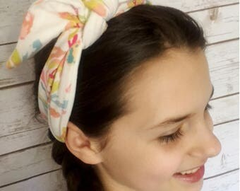 Knit knotted bow headbands, Headbands for women workout, Ladies girls stretch headbands, Floral headband, women's headbands, woman headband