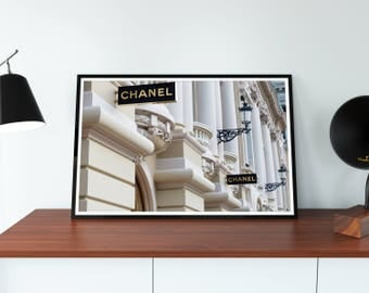 Chanel Paris Boutique Store. 31 Rue Cambon Paris France. Chanel Store. Coco Chanel Print. Coco Chanel Poster. Chanel Wall Art. Free shipping
