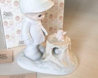 Vintage Precious Moments Wishing You A Cozy Season Figurine 521949