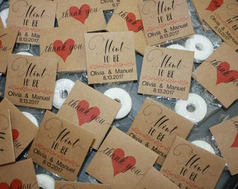 100 Personalized Mint To Be Wedding Favors - Bridal Shower Favors - Engagement Favors - Custom Favors for Guests