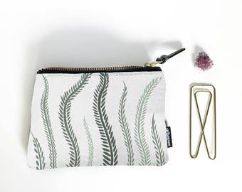 Plant Coin Purse, Change Purse, Coin Pouch, Zippered Coin Purse, Small Toiletry Bag, Money Purse, Coin Bag, Small Zipper Pouch