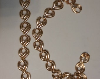 Krementz Gold Tone Necklace & Bracelet