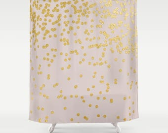 Pink Shower Curtain - Polka Dot Shower Curtain - Shower Curtains for Bathrooms - FREE Shipping