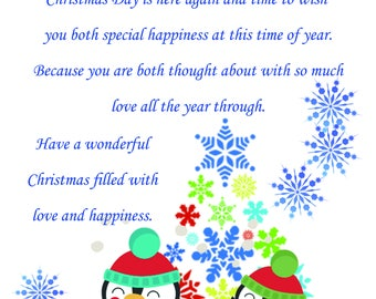 Goddaughter & Fiance Christmas Card cute