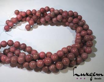 Rhodonite  - 4mm, 10mm, 14mm - Round beads - Natural gemstone - Manufacture offers - RH003/RH001/RH002