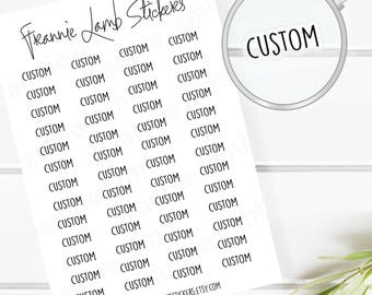 CUSTOM Tiny Text Planner Stickers, Personalized Stickers (COLOR OPTIONS), Clear Matte Stickers, Planner Stickers, Text Stickers