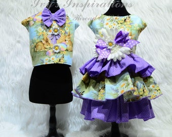 Easter Daisy Dog Dress and Vest