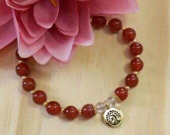 Gemstone CARNELIAN Gemstone bracelet,Carnelian jewelry,Gemstone jewelry,Gemstone healing,Healing Gemstones,Semi-precious stone jewelry