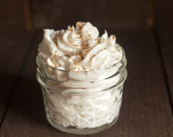 Snickerdoodle Whipped Soap, whipped soap, soap in a jar, soap gift, holidays, baking, christmas