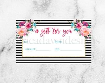LipSense Gift Certificate // SeneGence Gift Certificate // LipSense Printable // LipSense Marketing