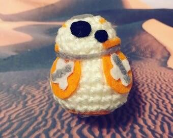 BB8, Star Wars, The last Jedi, The Force Awakens, presentidea, fandom, nerdy, geeky, Amigurumi, crocheted figurine