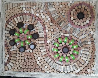 Upcycled Circle Cork Art Arrangemt