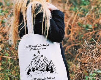 ACOTAR Tote Bag, Night Court, To the Stars who Listen, A Court of Thorns and Roses, Mist and Fury, ACOMAF Bag, To the People Who Look