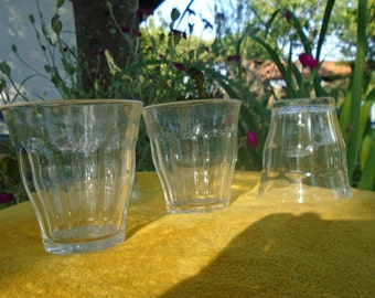 French bistro glasses - set and 4 stackable glasses - Duralex - Made in France