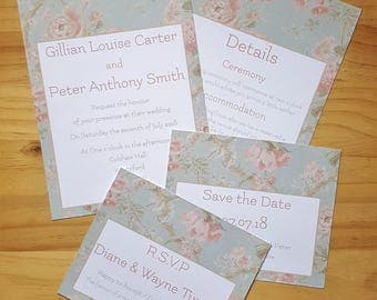 Invitation, RSVP, Save the Date & Details, Vintage Wedding Stationery