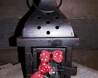 Red and White Polka Dot Mini Bow Set