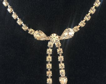Vintage B. David Necklace - Rhinestone