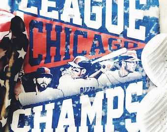 Tie Dye Chicago Cubs League Champs Tee