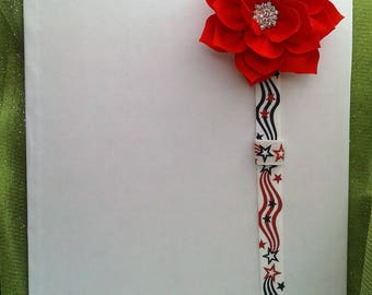 Planner Band, Pen Holder, American, Patriotic, red white & blue, Independence day, July 4th