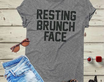 Brunch Shirt, Brunch Tank, Resting Brunch Shirt, Resting brunch face, Mimosa shirt, Mimosa tank, Brunch tee, Mom shirt, Drinking shirt